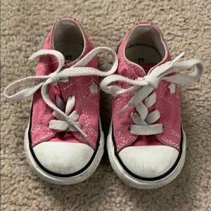 🌈4/$25🌈 Toddler Pink Converse Sneakers, Size 5